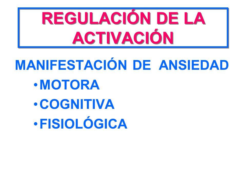 REGULACIÓN DE LA ACTIVACIÓN