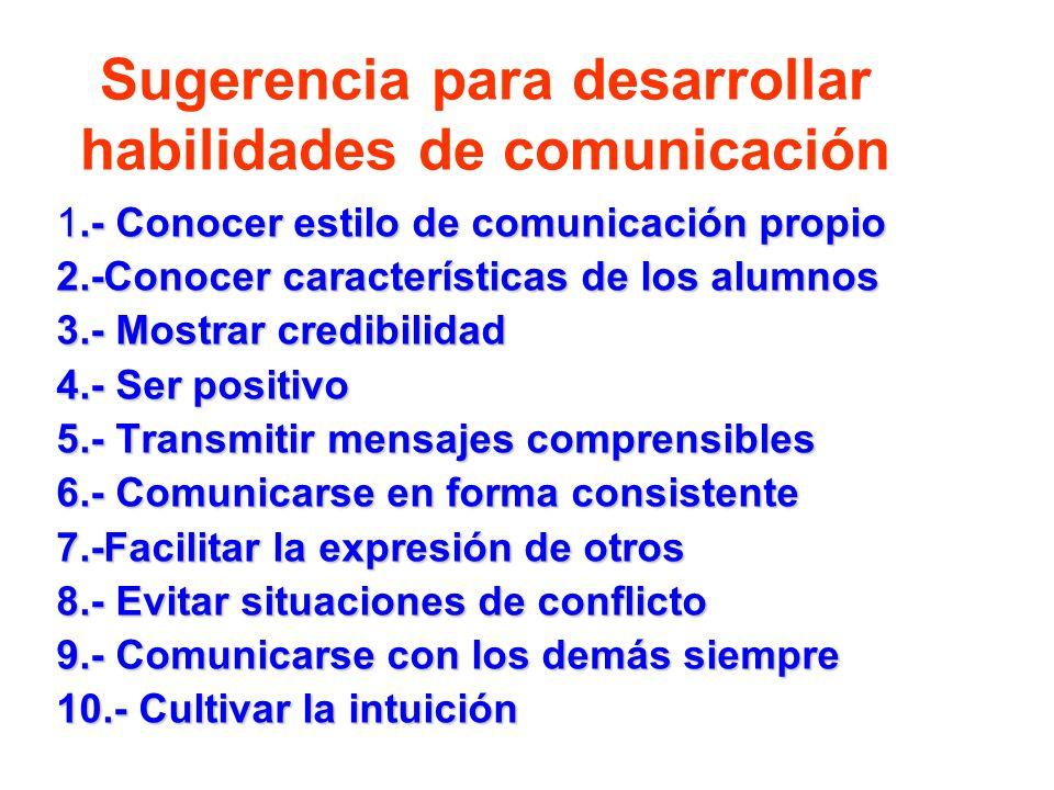 Sugerencia para desarrollar habilidades de comunicación