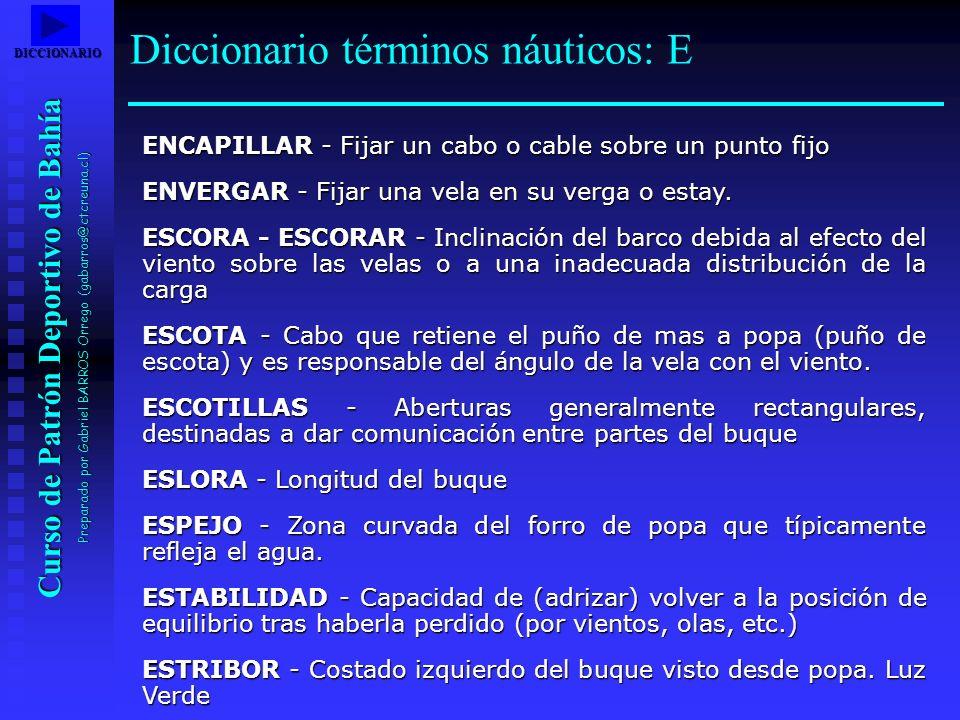 Diccionario términos náuticos: E