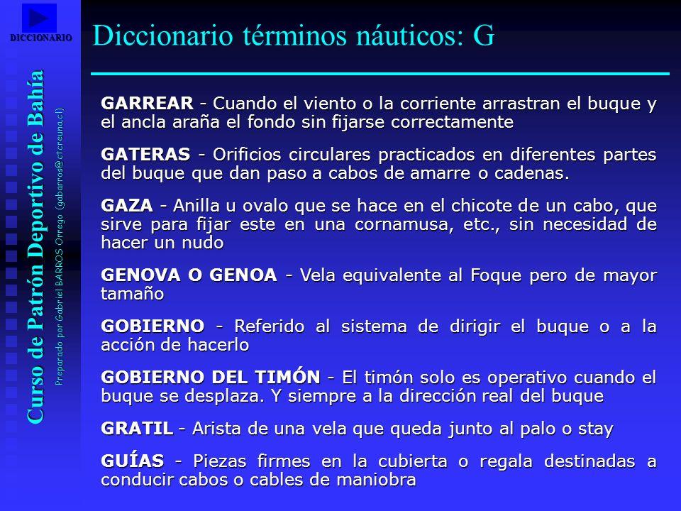 Diccionario términos náuticos: G