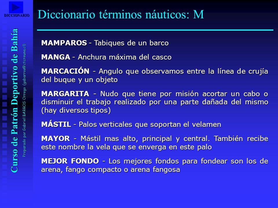 Diccionario términos náuticos: M