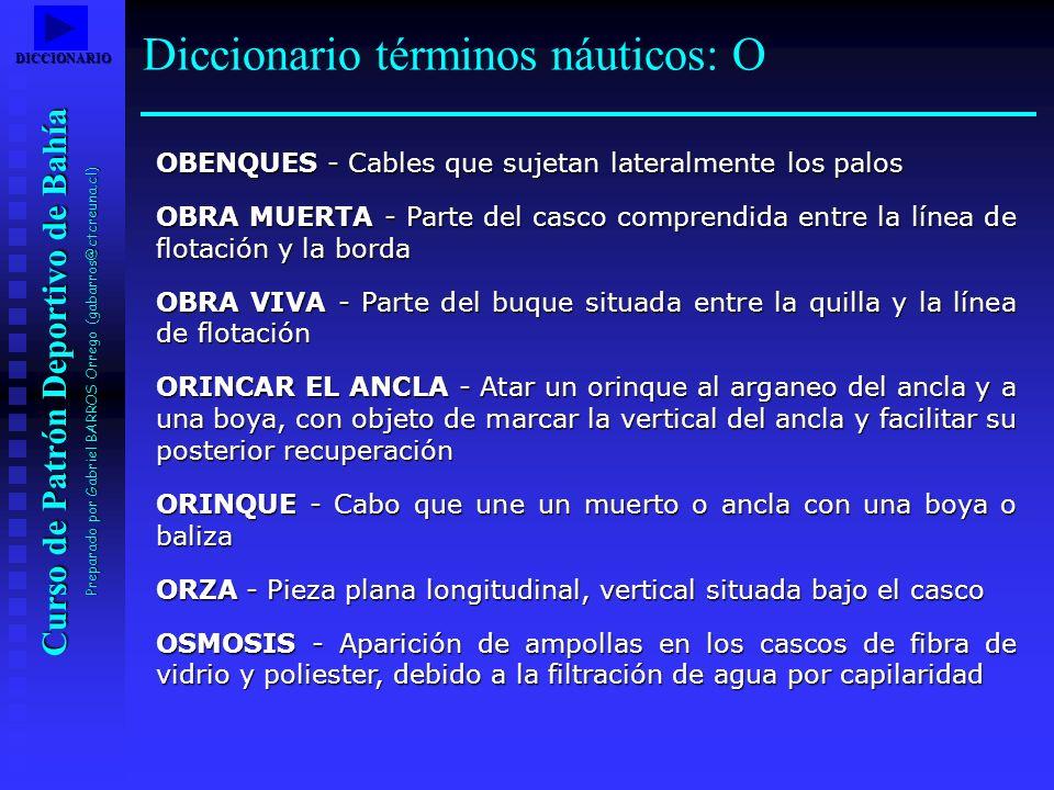 Diccionario términos náuticos: O