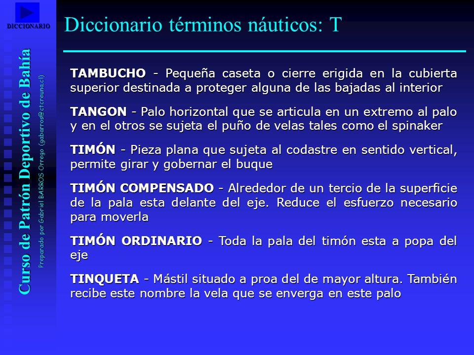 Diccionario términos náuticos: T