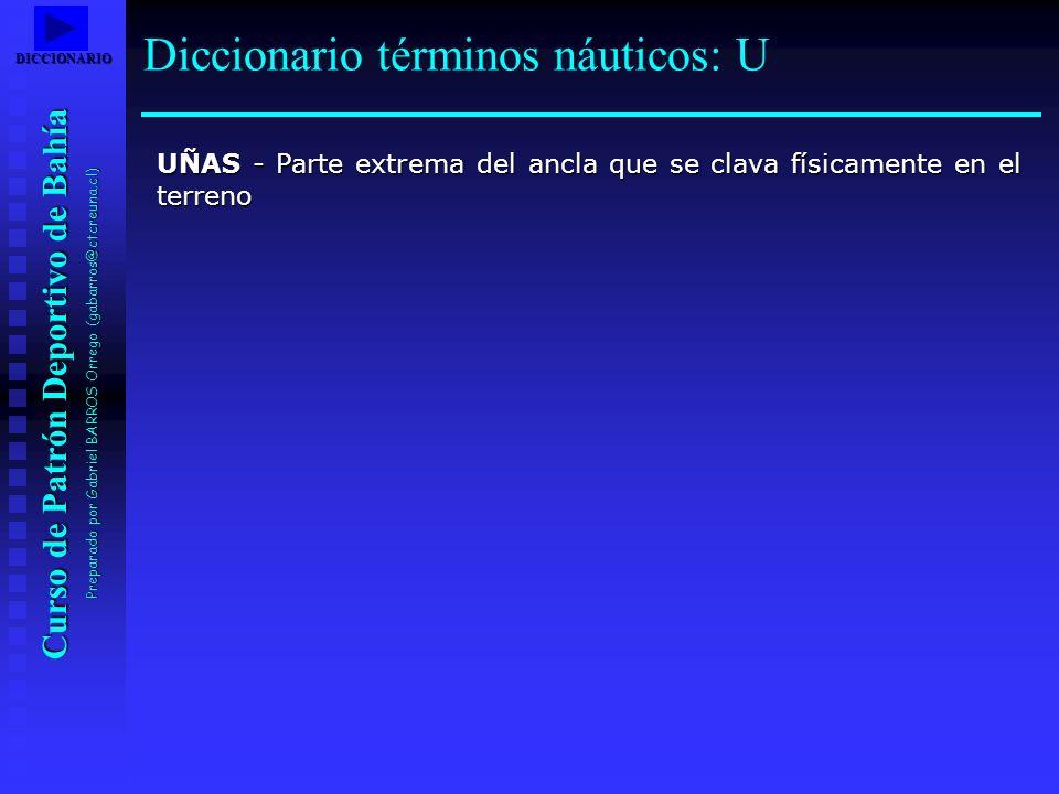 Diccionario términos náuticos: U
