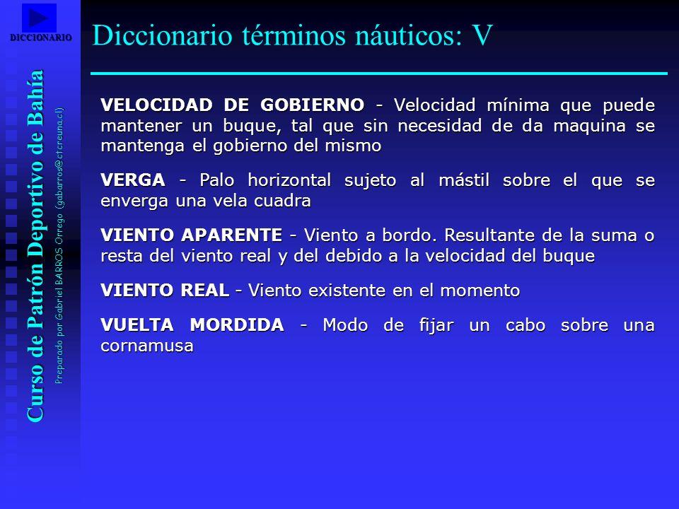 Diccionario términos náuticos: V
