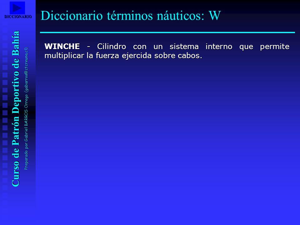 Diccionario términos náuticos: W