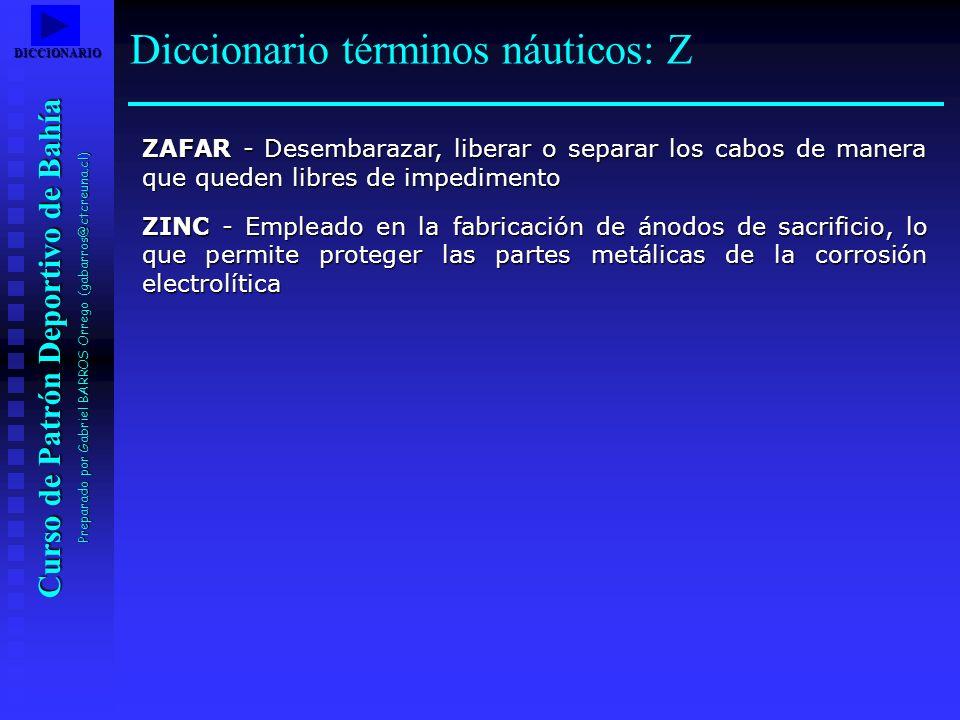 Diccionario términos náuticos: Z