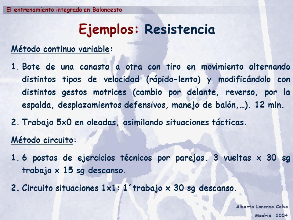 Ejemplos: Resistencia