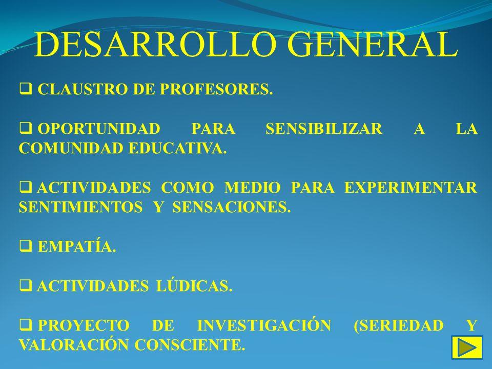 DESARROLLO GENERAL CLAUSTRO DE PROFESORES.
