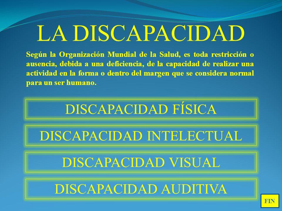 LA DISCAPACIDAD DISCAPACIDAD FÍSICA DISCAPACIDAD INTELECTUAL