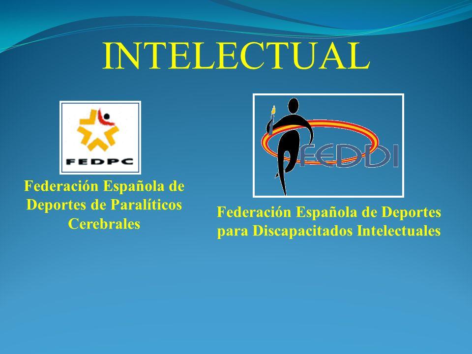 INTELECTUAL Federación Española de Deportes de Paralíticos Cerebrales