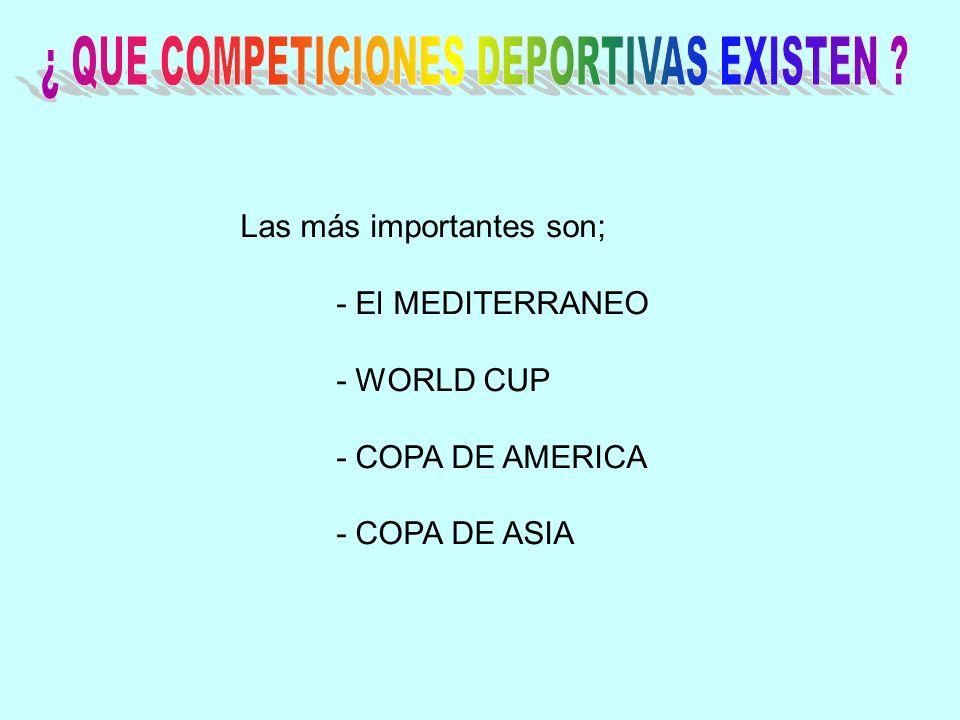 ¿ QUE COMPETICIONES DEPORTIVAS EXISTEN
