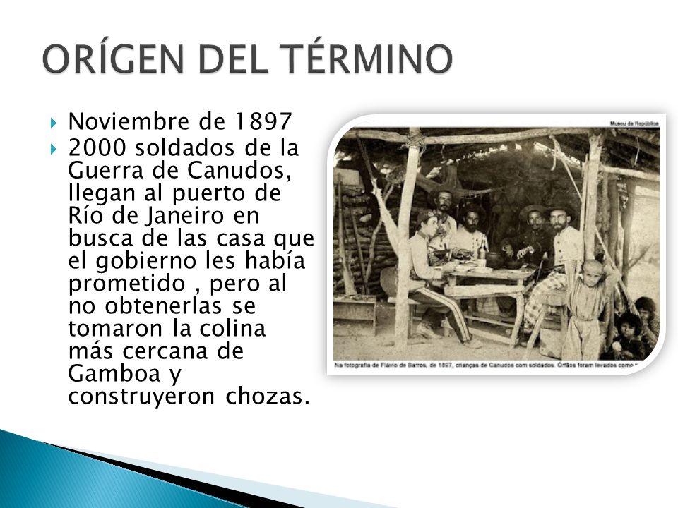 ORÍGEN DEL TÉRMINO Noviembre de 1897