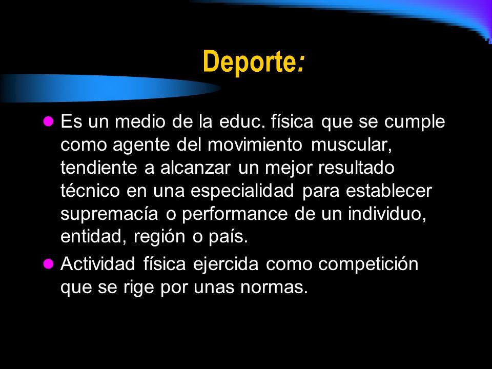Deporte: