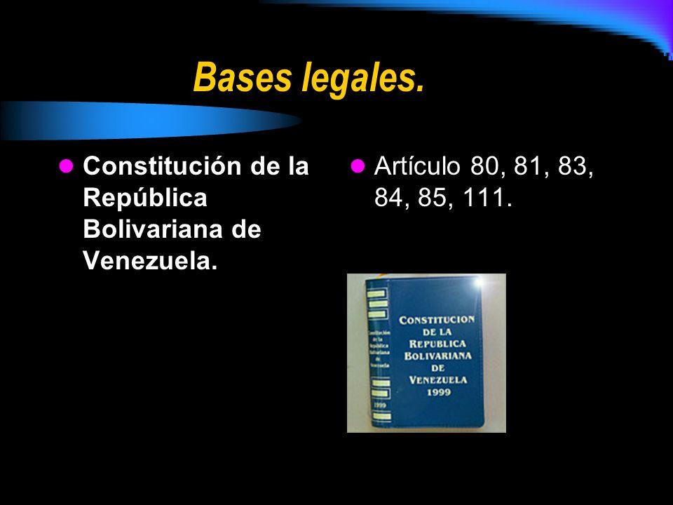 Bases legales. Constitución de la República Bolivariana de Venezuela.