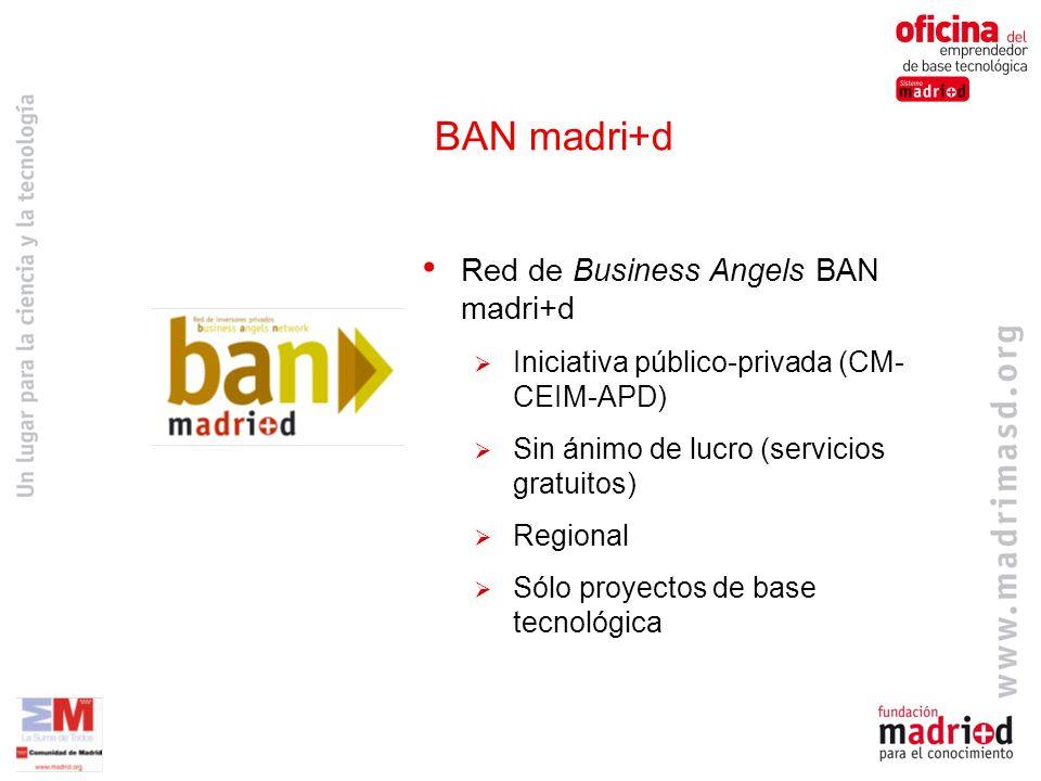 BAN madri+d Red de Business Angels BAN madri+d