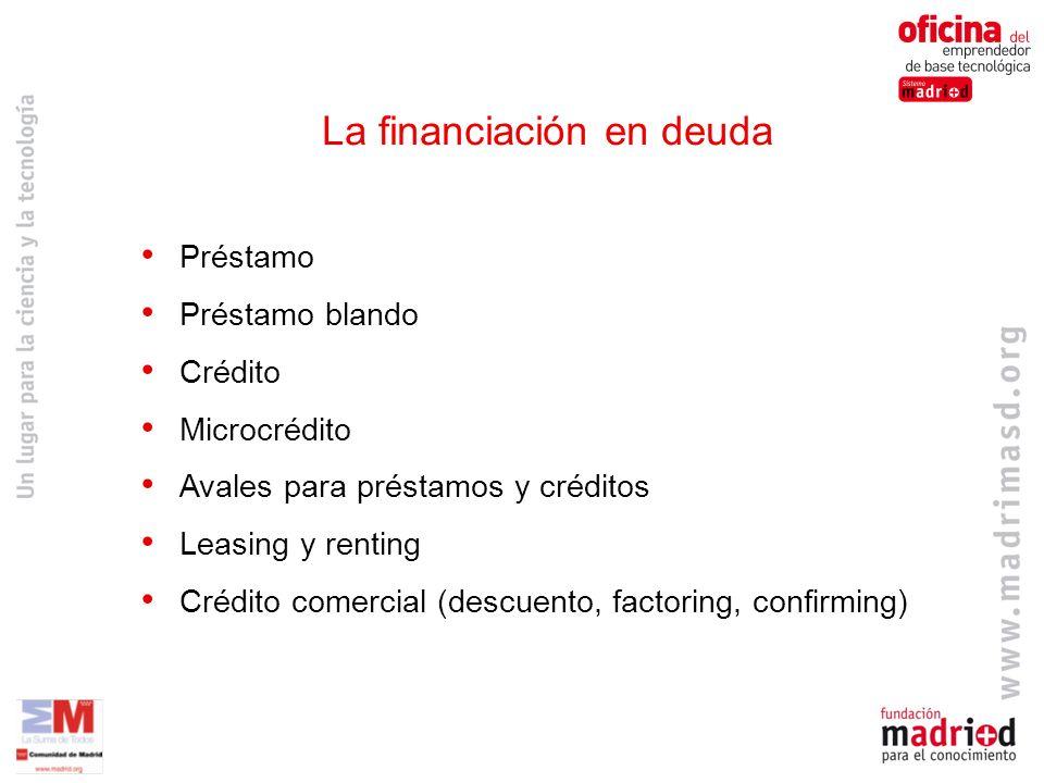 La financiación en deuda