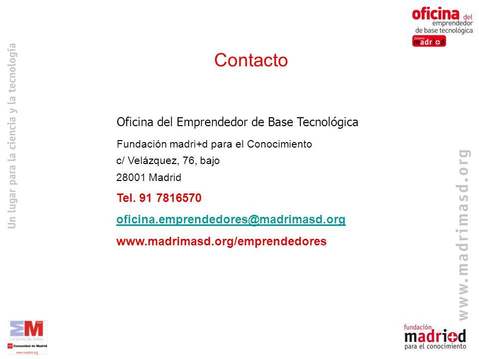 Contacto Oficina del Emprendedor de Base Tecnológica