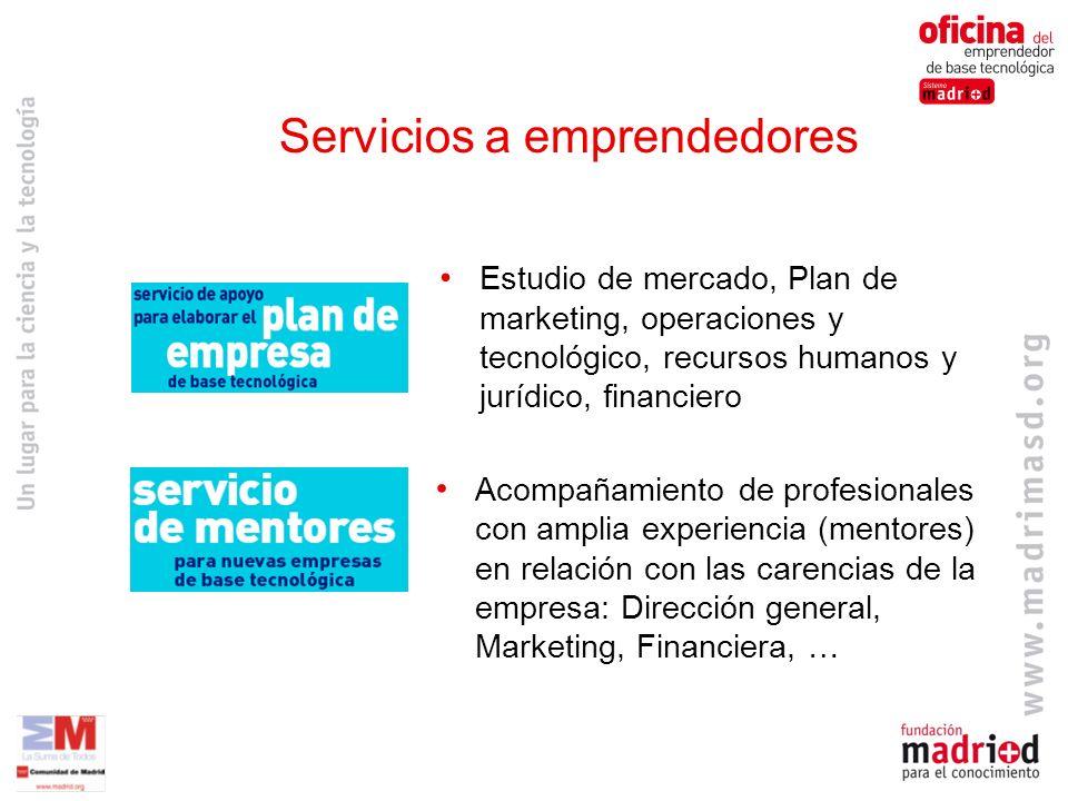 Servicios a emprendedores