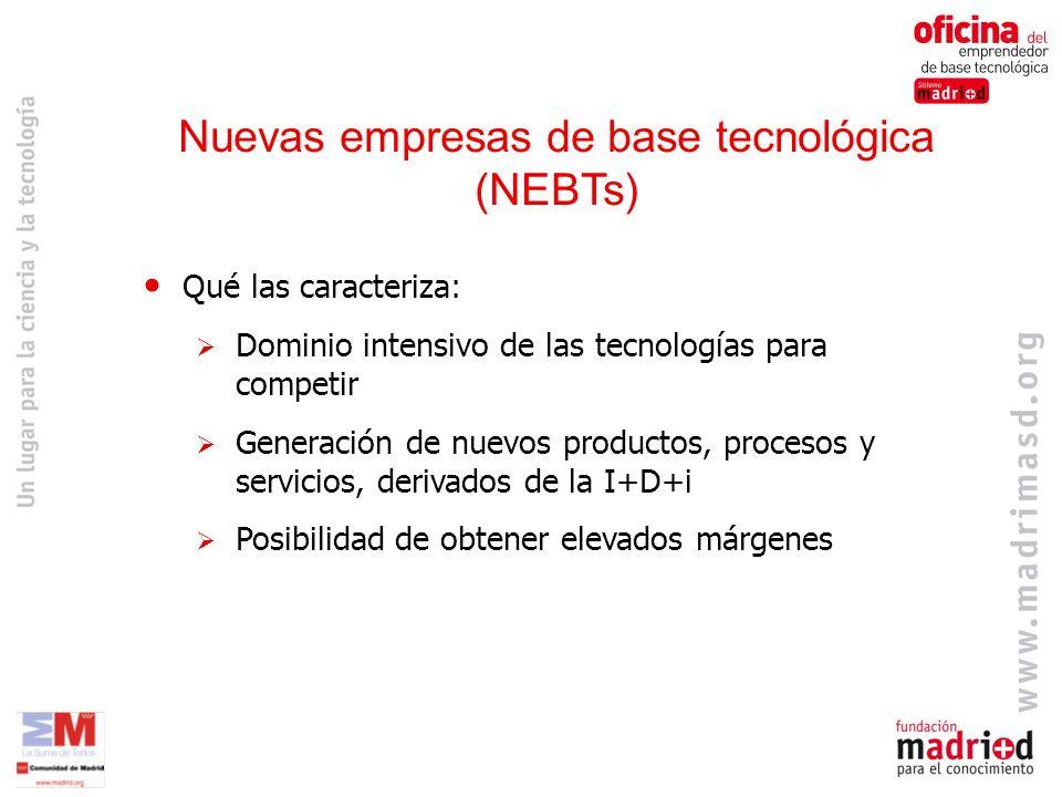 Nuevas empresas de base tecnológica (NEBTs)