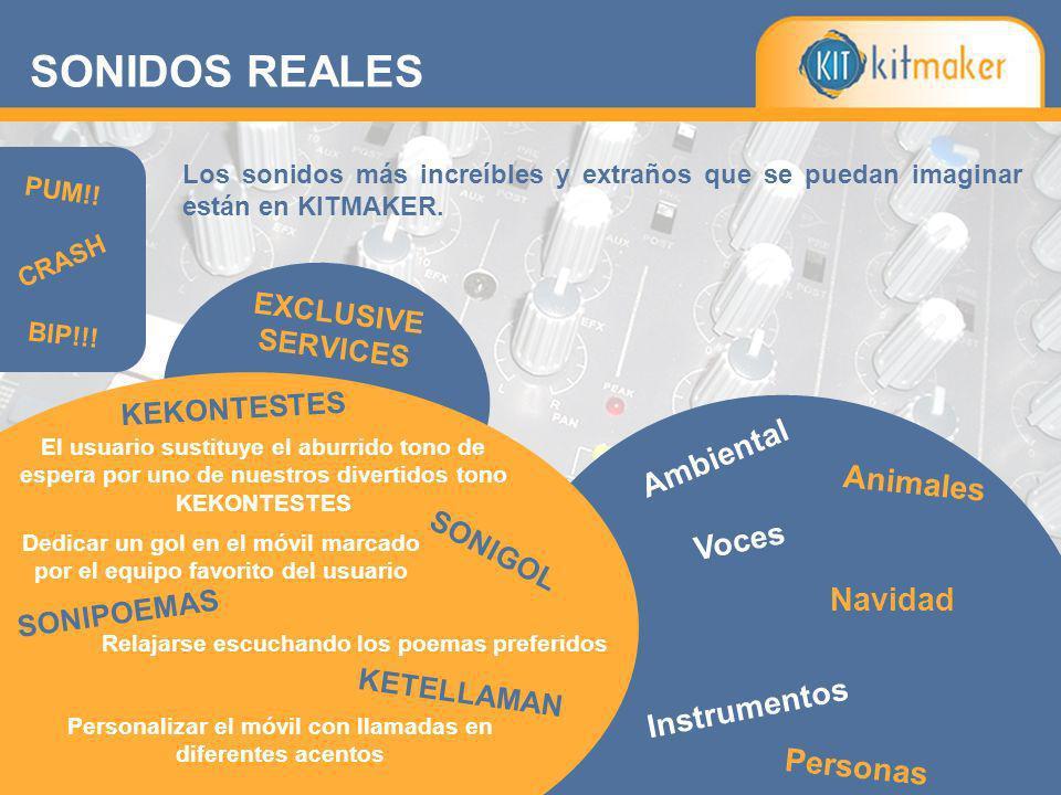 SONIDOS REALES Ambiental Animales Voces Navidad Instrumentos Personas