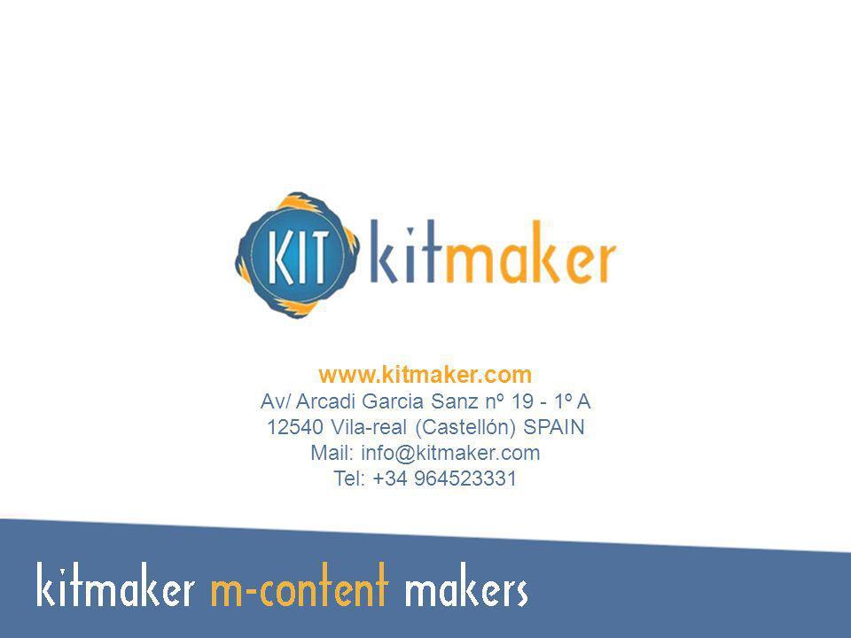www.kitmaker.com Av/ Arcadi Garcia Sanz nº 19 - 1º A