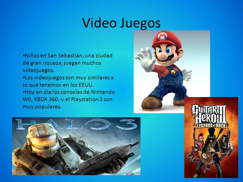 Video Juegos Niños en San Sebastián, una ciudad de gran riqueza, juegan muchos videojuegos.