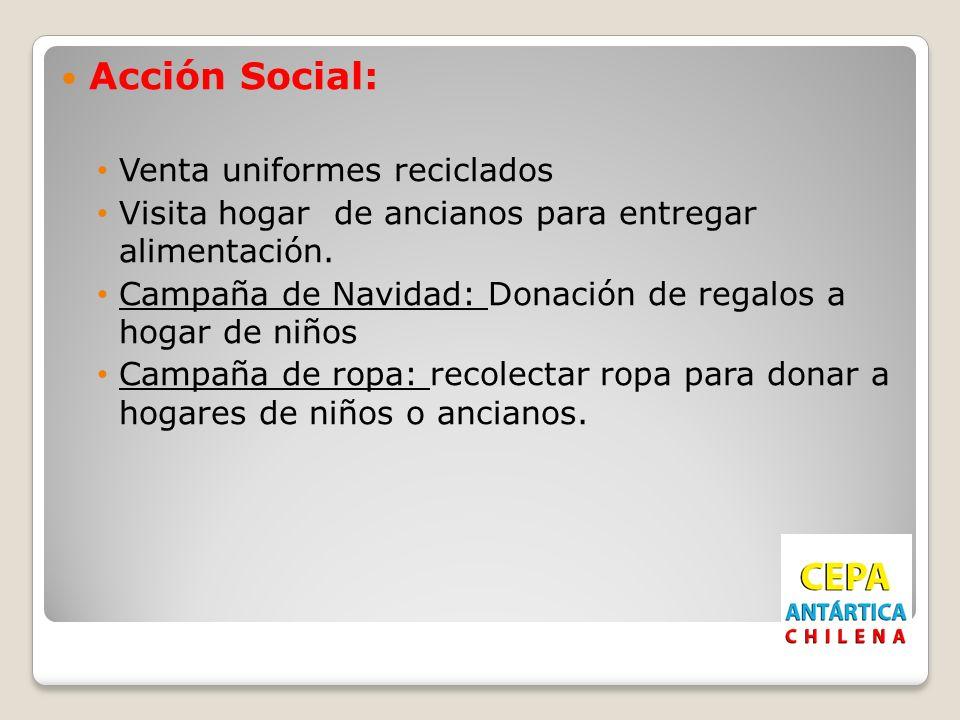 Acción Social: Venta uniformes reciclados