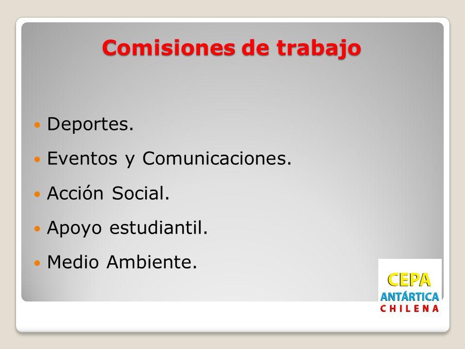 Comisiones de trabajo Deportes. Eventos y Comunicaciones.