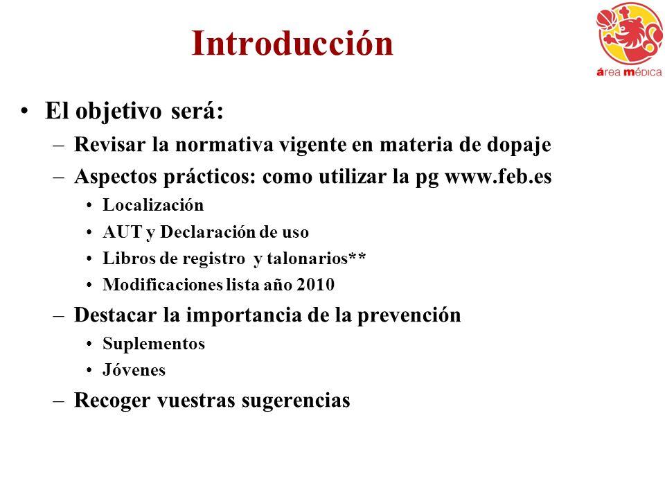Introducción El objetivo será: