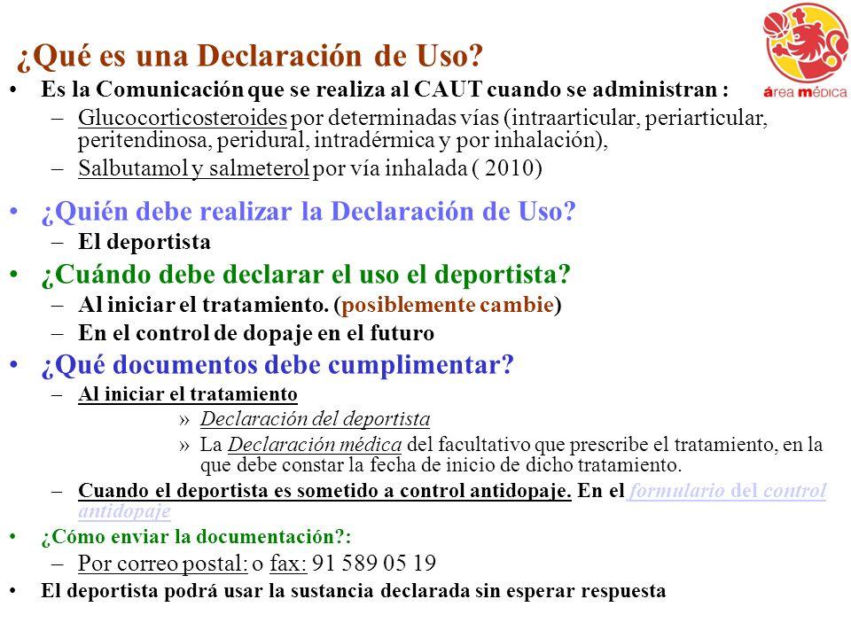 ¿Qué es una Declaración de Uso
