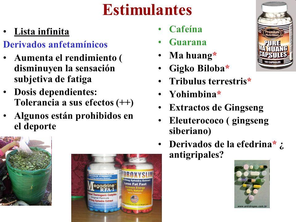 Estimulantes Cafeína Guarana Ma huang* Gigko Biloba*