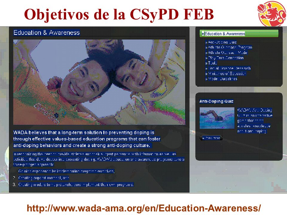 Objetivos de la CSyPD FEB