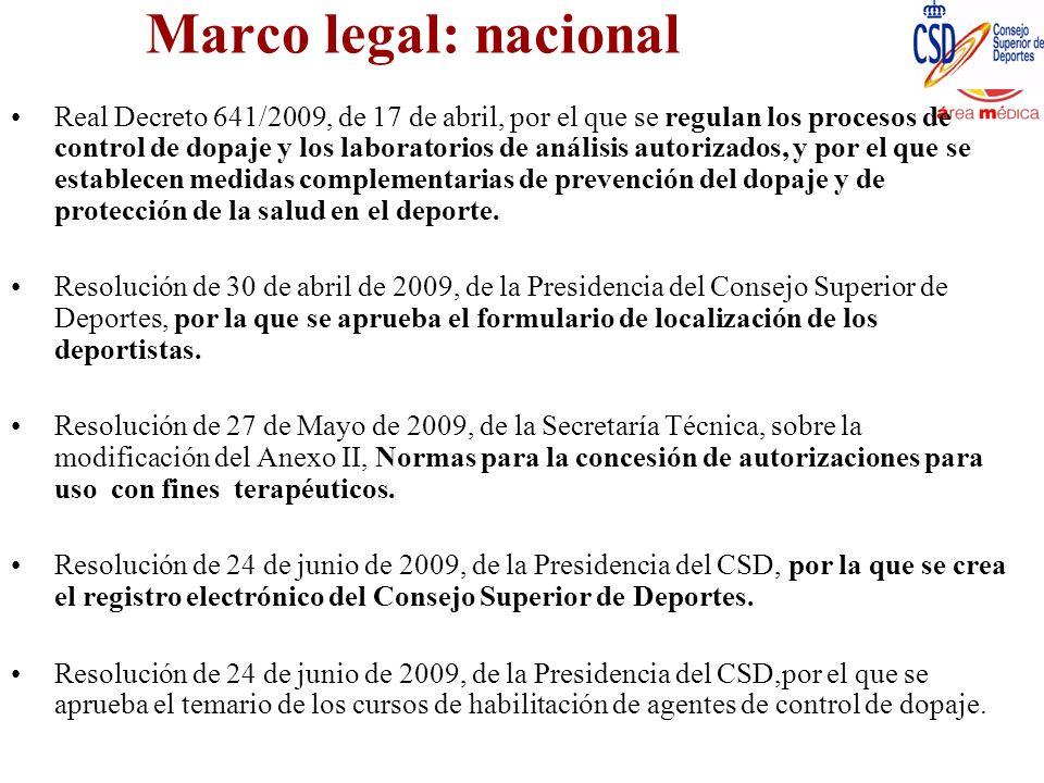 Marco legal: nacional
