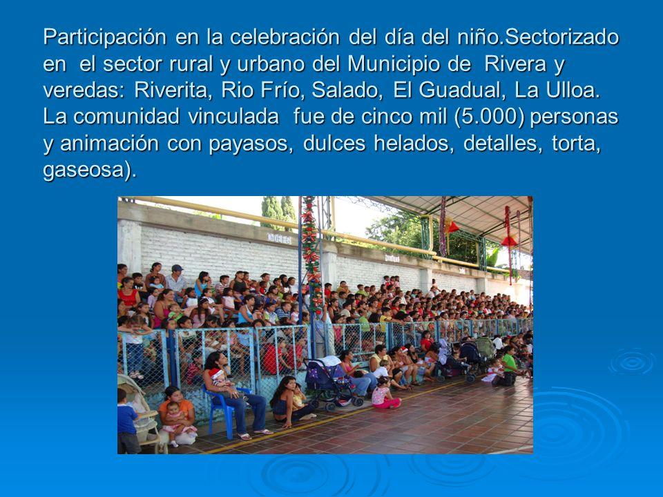 Participación en la celebración del día del niño