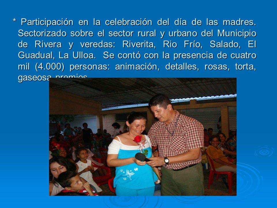 Participación en la celebración del día de las madres
