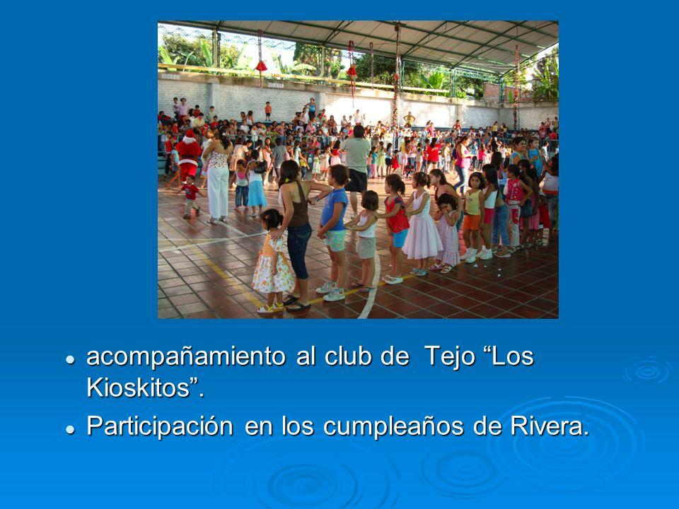acompañamiento al club de Tejo Los Kioskitos .