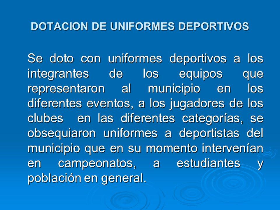 DOTACION DE UNIFORMES DEPORTIVOS