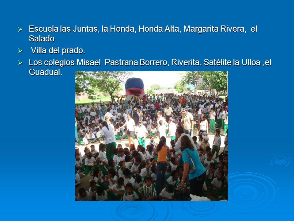 Escuela las Juntas, la Honda, Honda Alta, Margarita Rivera, el Salado