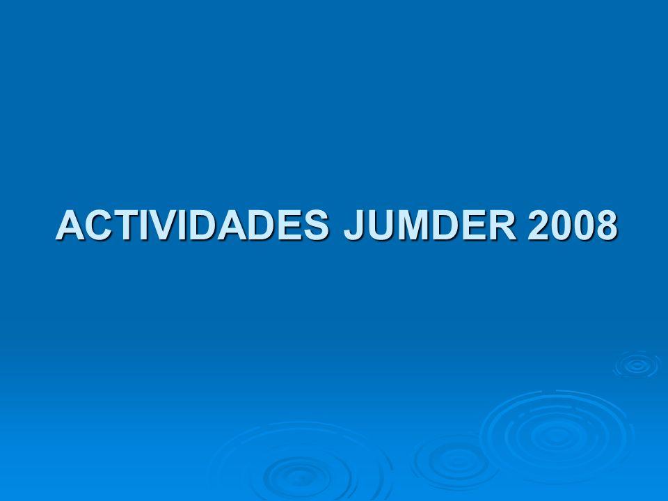 ACTIVIDADES JUMDER 2008