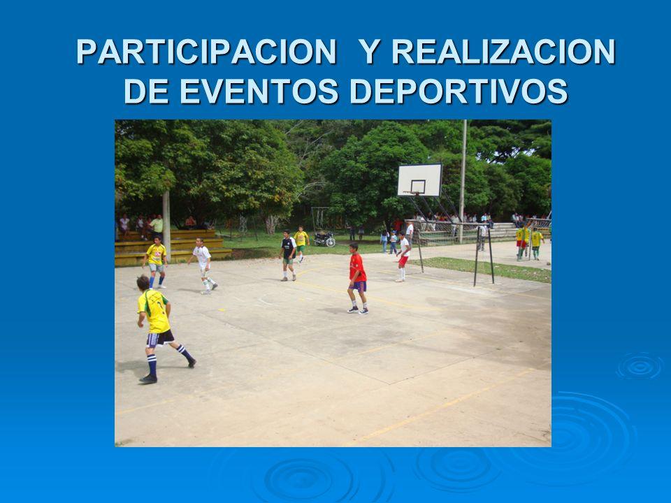 PARTICIPACION Y REALIZACION DE EVENTOS DEPORTIVOS
