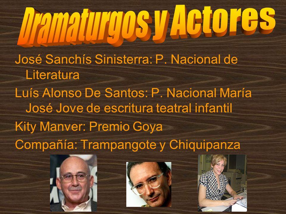 Dramaturgos y Actores José Sanchís Sinisterra: P. Nacional de Literatura.