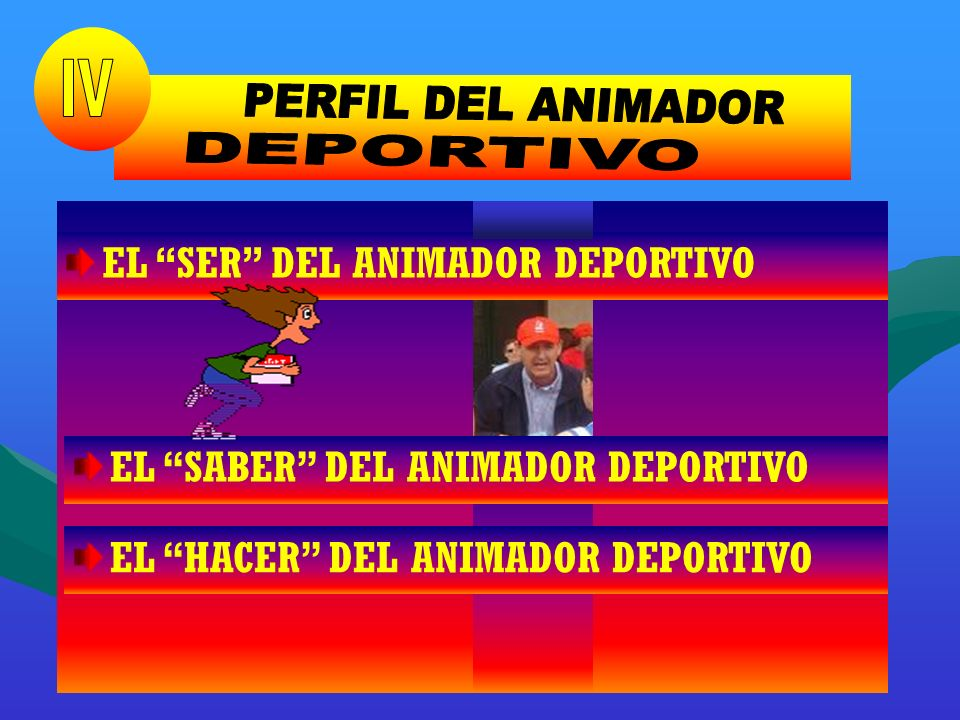 PERFIL DEL ANIMADOR IV DEPORTIVO IV EL SER DEL ANIMADOR DEPORTIVO