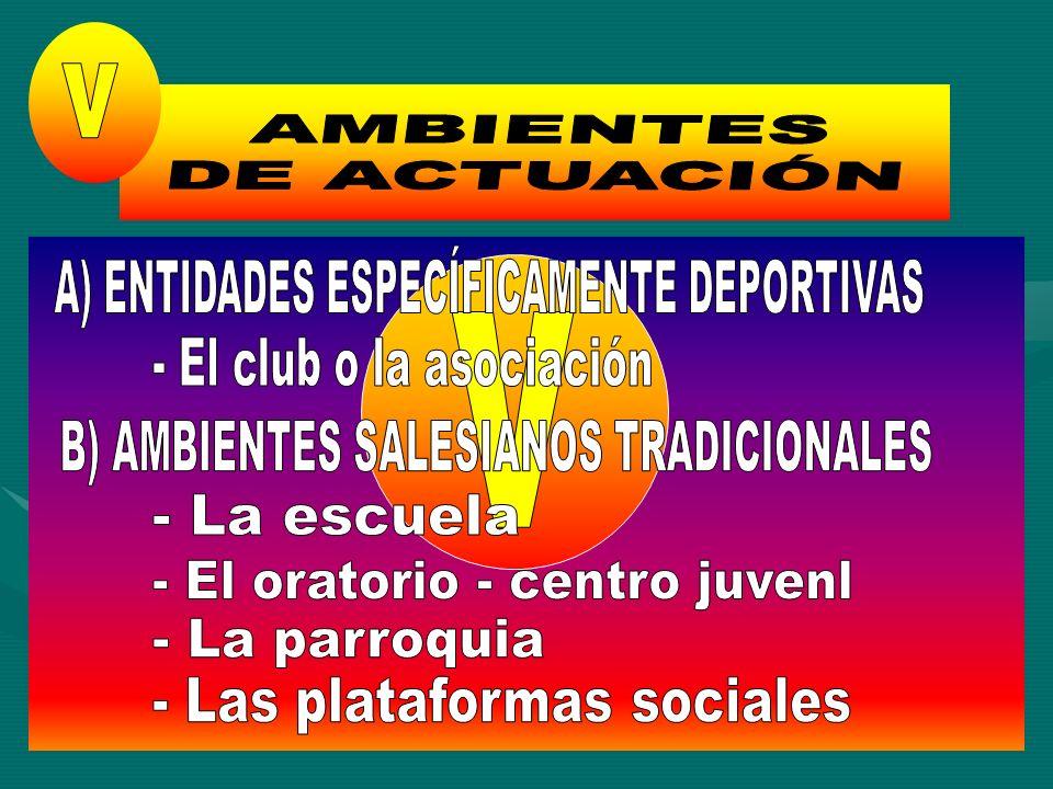 A) ENTIDADES ESPECÍFICAMENTE DEPORTIVAS v - El club o la asociación