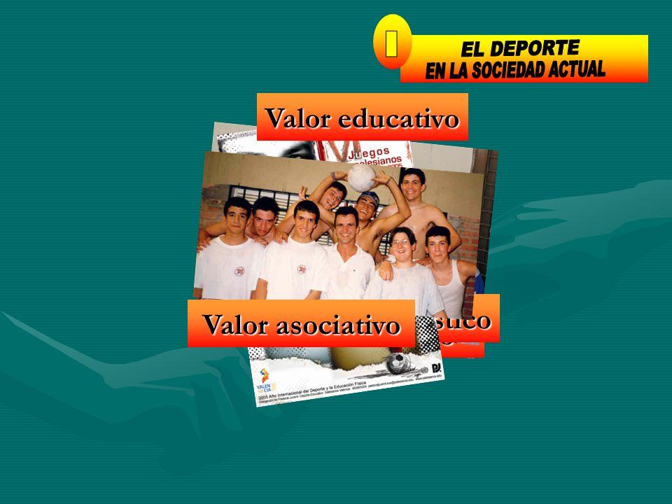 1 EL DEPORTE I EN LA SOCIEDAD ACTUAL Valor educativo Valor hedonístico