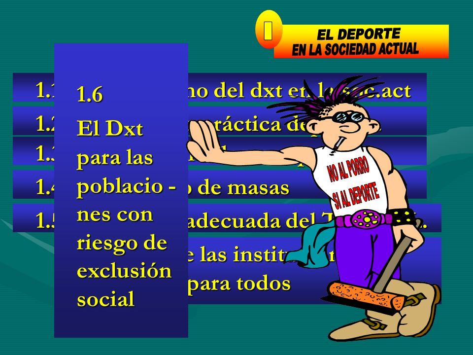 1 EL DEPORTE I EN LA SOCIEDAD ACTUAL 1.6