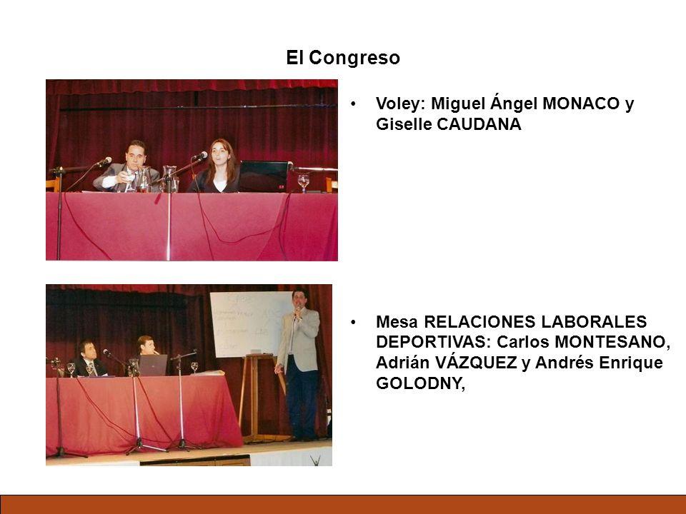 El Congreso Voley: Miguel Ángel MONACO y Giselle CAUDANA