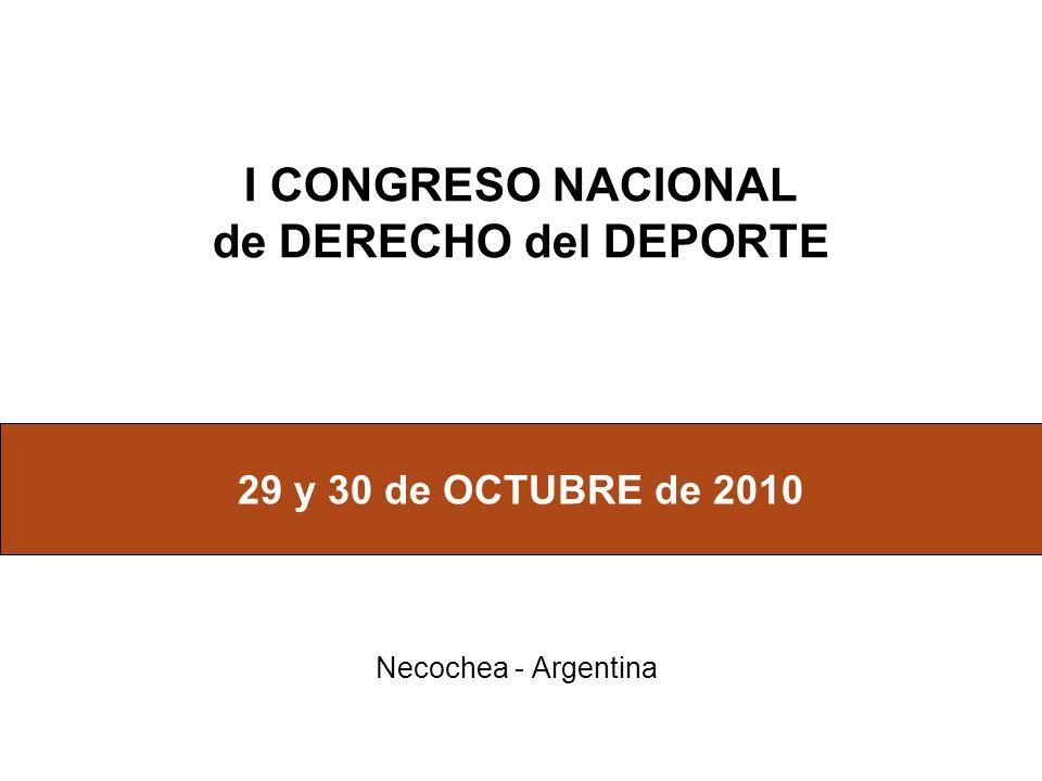 I CONGRESO NACIONAL de DERECHO del DEPORTE