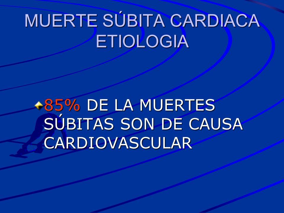 MUERTE SÚBITA CARDIACA ETIOLOGIA