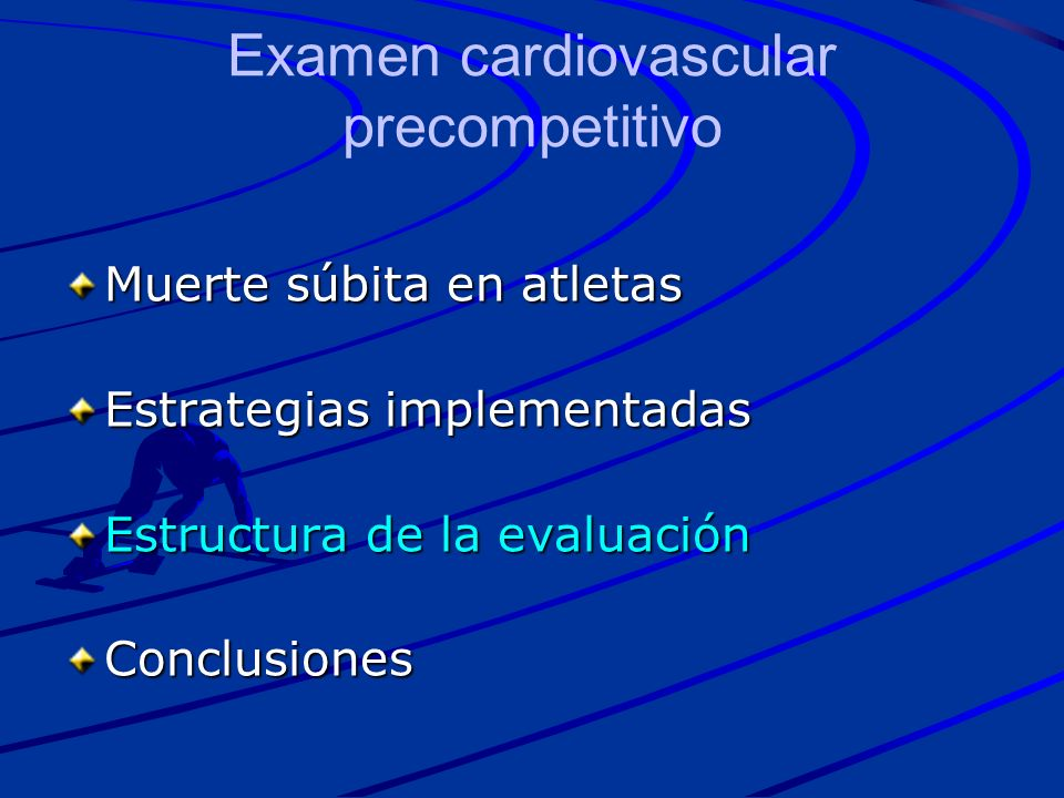 Examen cardiovascular precompetitivo